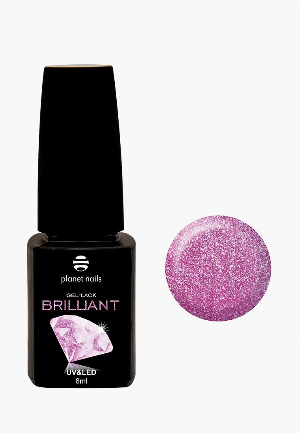 лак для ногтей planet nails, розовый
