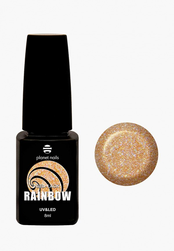 лак для ногтей planet nails, золотой