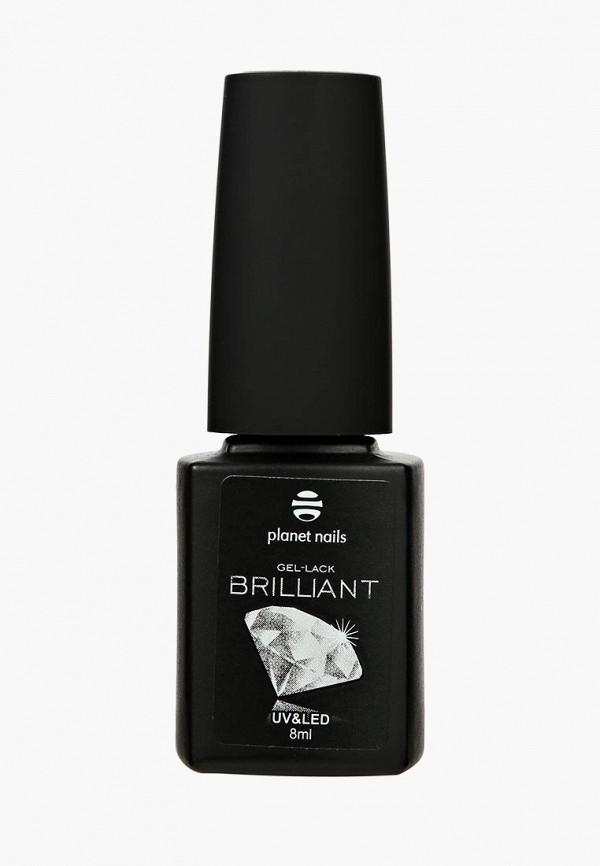 лак для ногтей planet nails, серебряный
