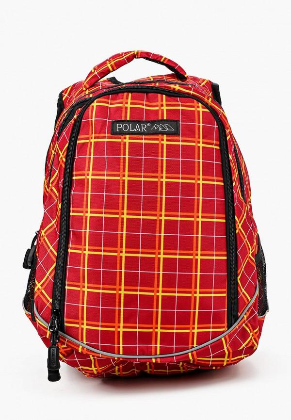 рюкзак polar для девочки, красный