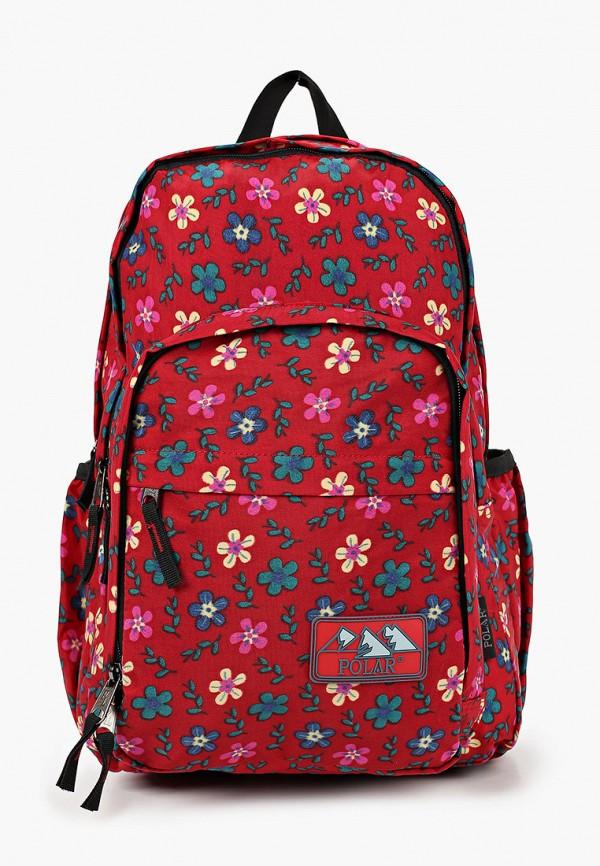рюкзак polar для девочки, бордовый