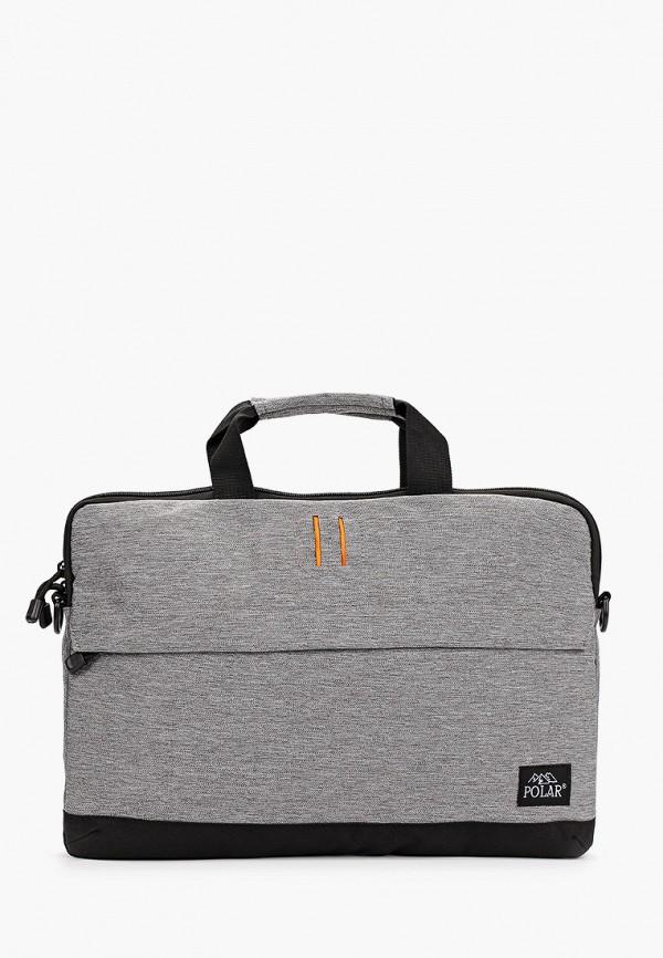мужская сумка polar, серая