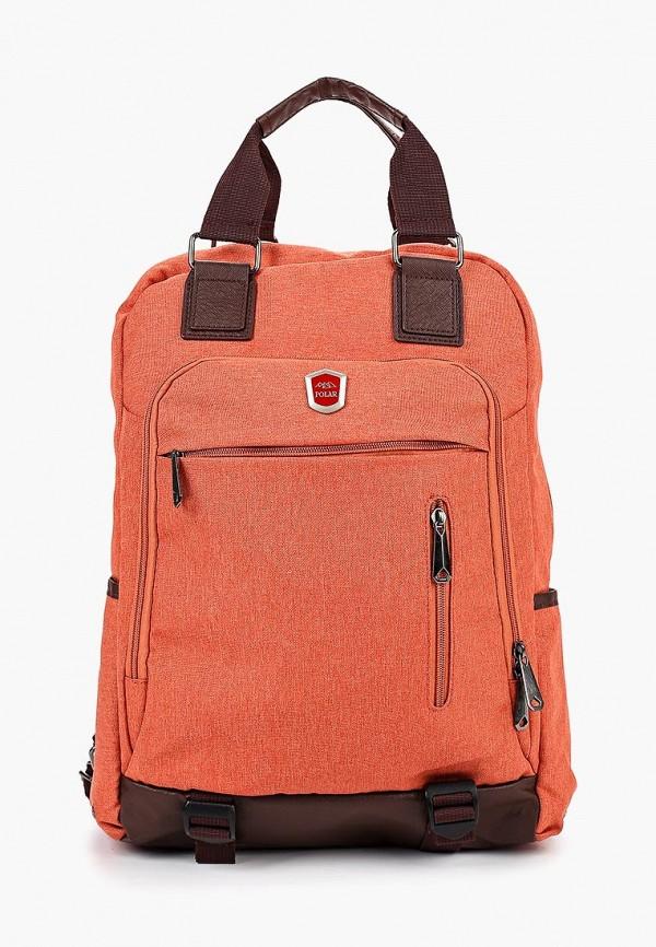 женский рюкзак polar, оранжевый