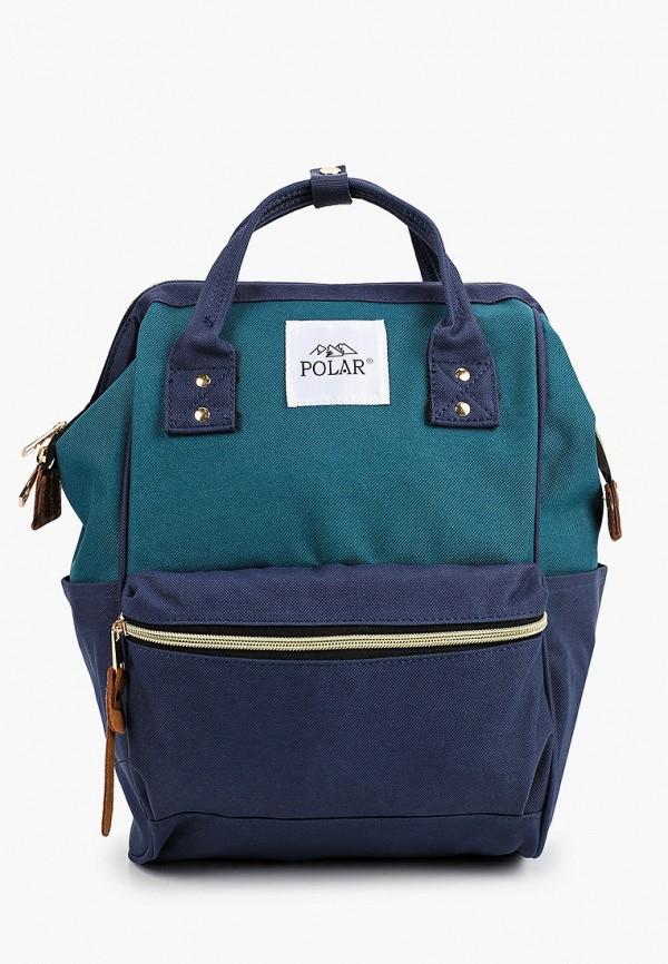 женский рюкзак polar, бирюзовый