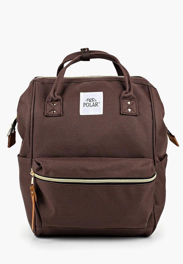 женский рюкзак polar, коричневый