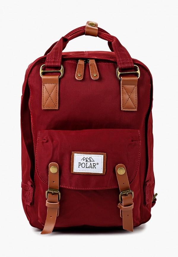 женский рюкзак polar, бордовый