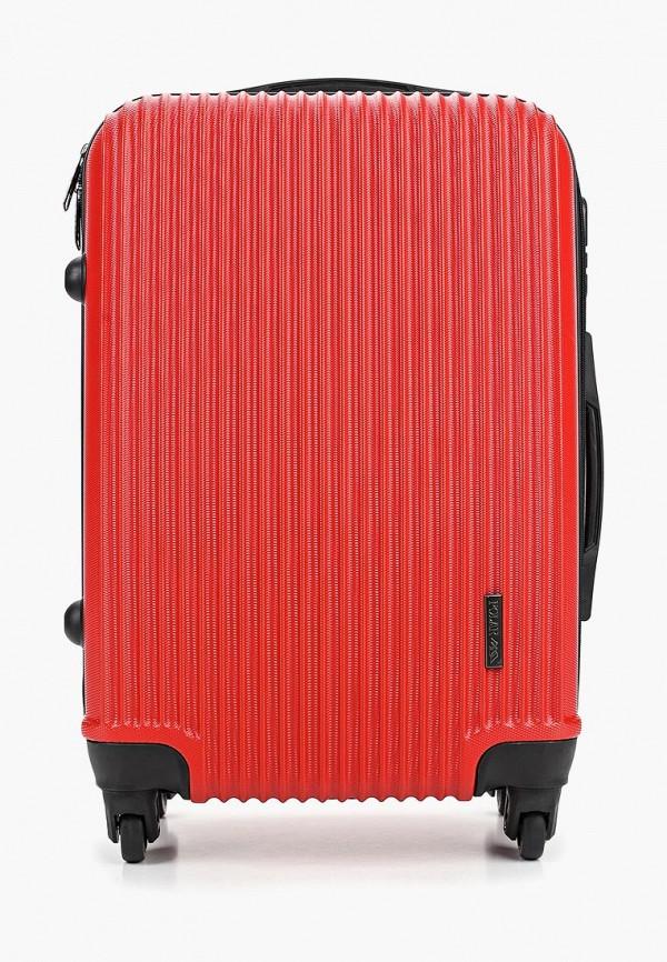 женский чемодан polar, красный