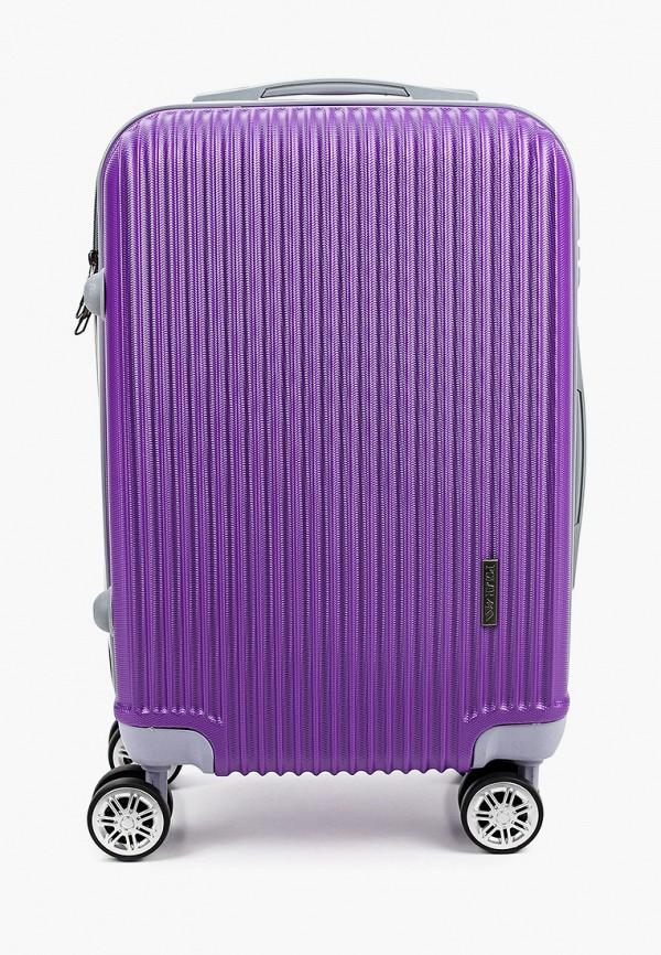 женский чемодан polar, фиолетовый