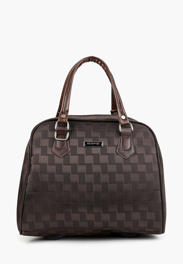 женская сумка polar, коричневая