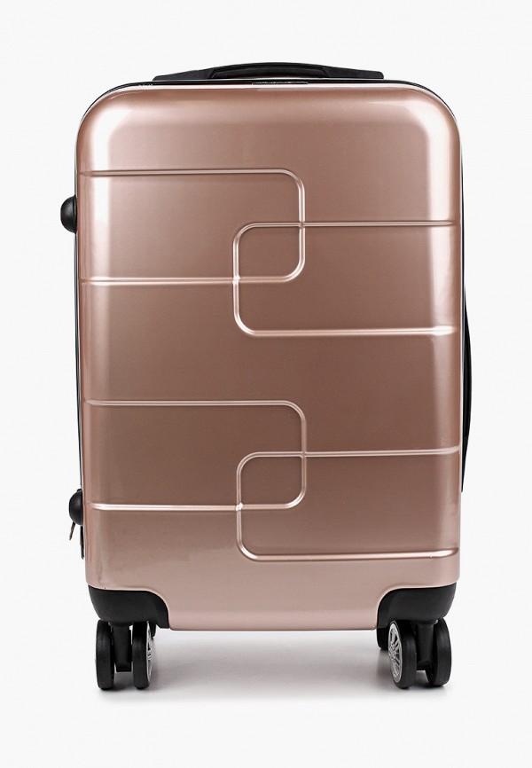 женский чемодан polar, розовый
