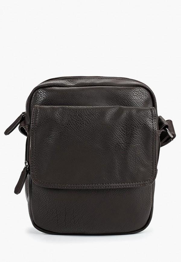 мужская сумка pola, коричневая