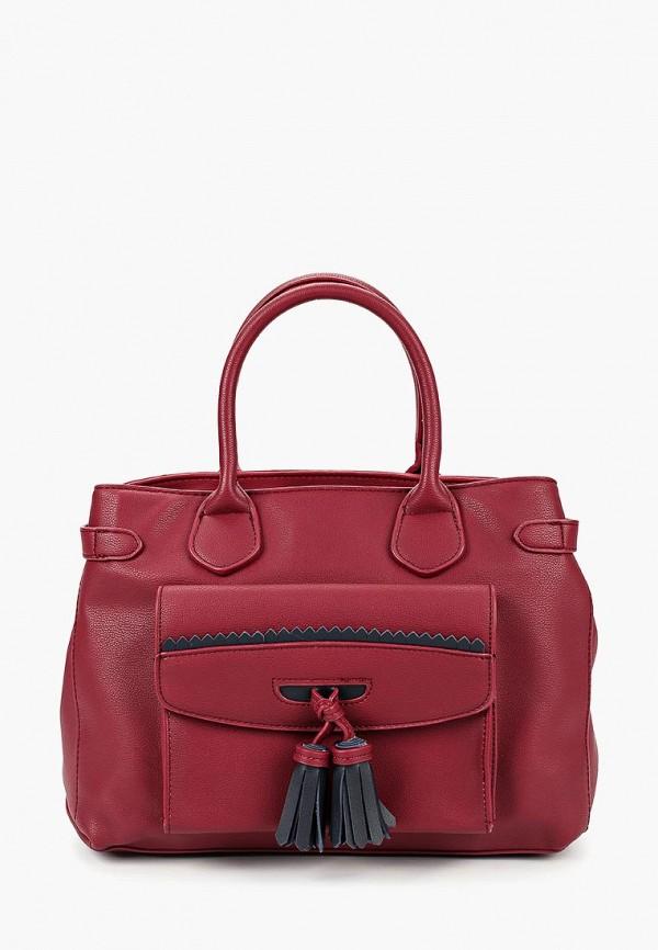 женская сумка pola, бордовая
