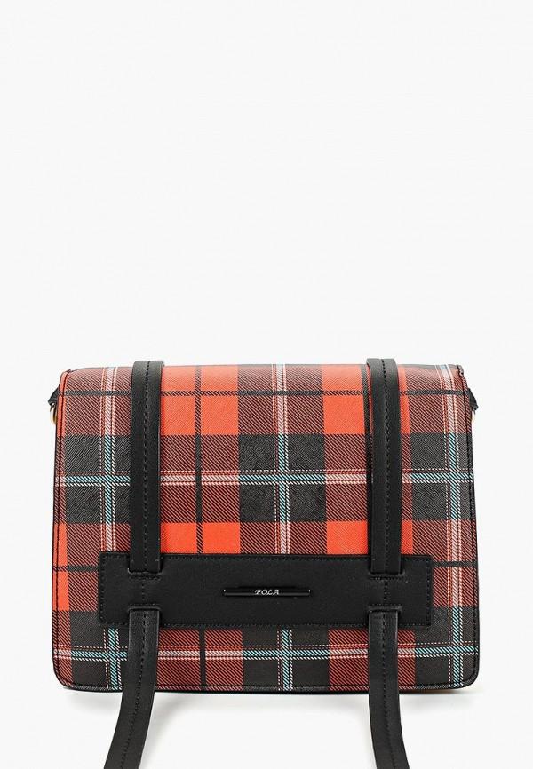 женская сумка pola, оранжевая