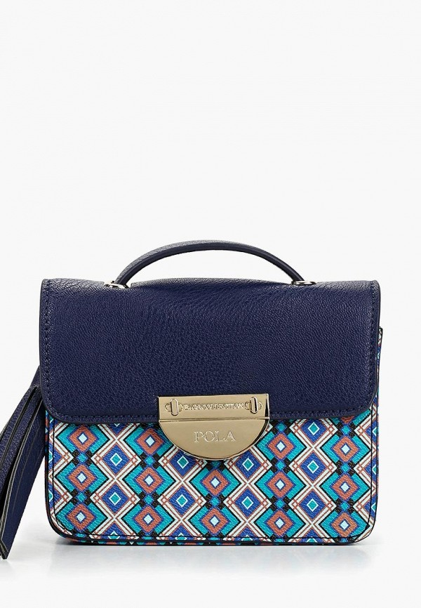 женская сумка pola, синяя