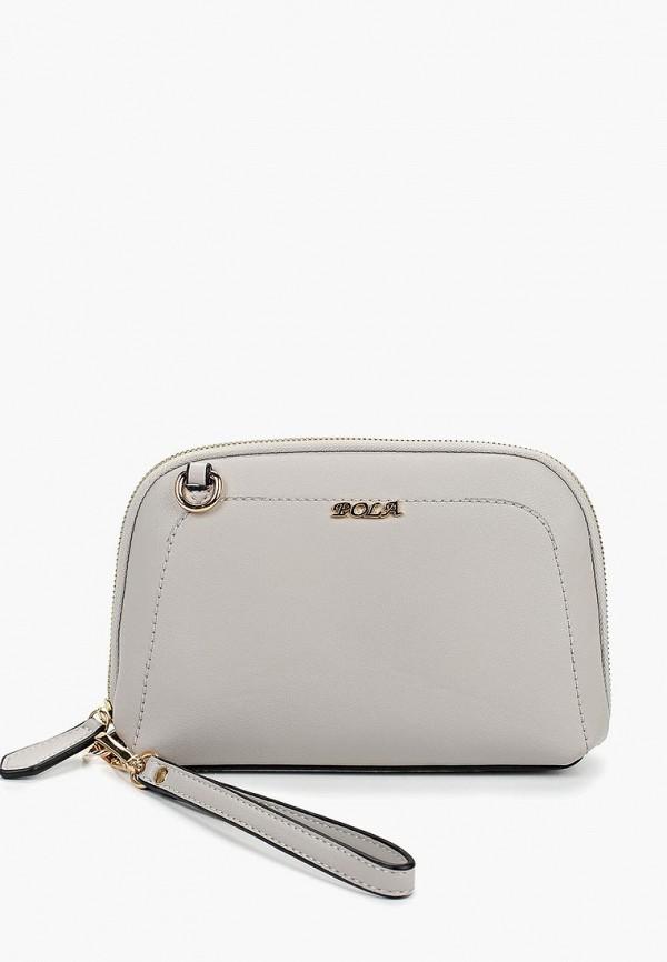 женская сумка pola, серая