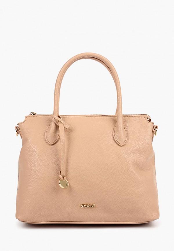 Фото - Женские сумки и аксессуары Pola бежевого цвета