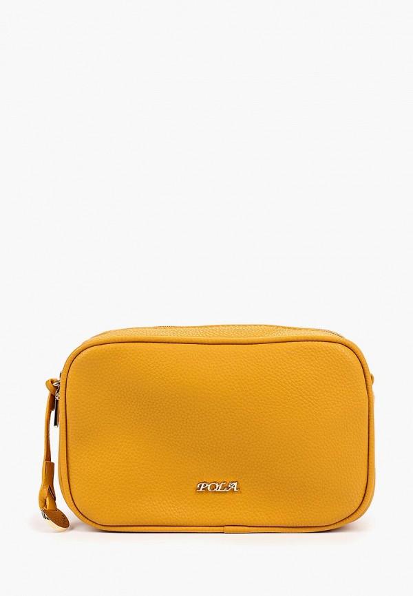 женская сумка pola, желтая