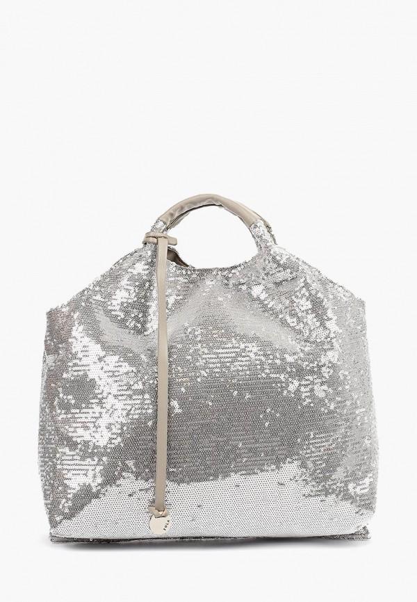 женская сумка pola, серебряная