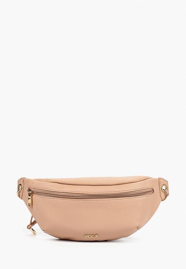 женская сумка pola, розовая