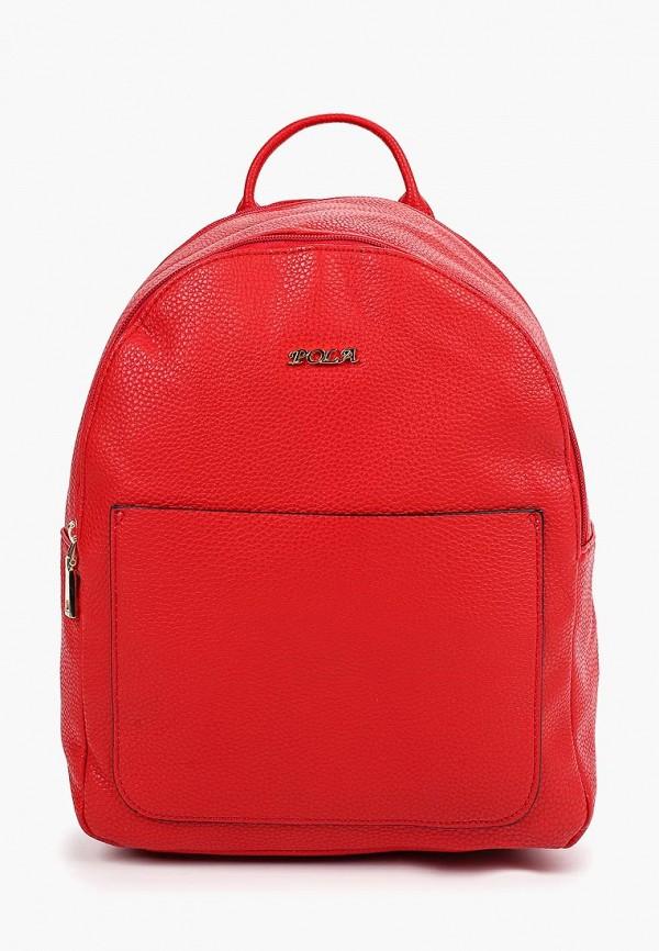 женский рюкзак pola, красный