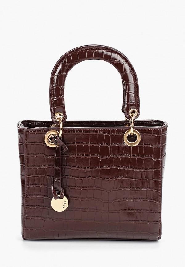 женская сумка pola, коричневая