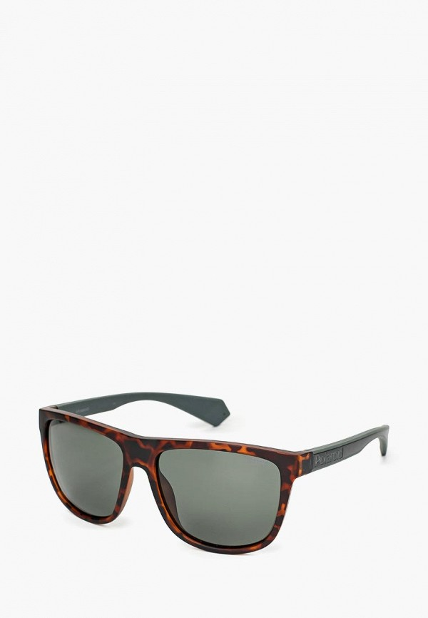 мужские солнцезащитные очки polaroid, коричневые