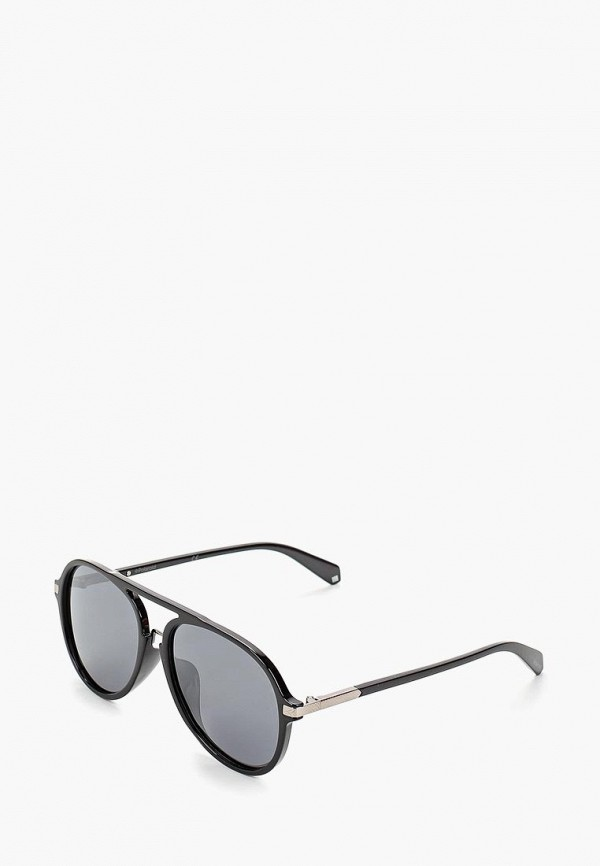 мужские солнцезащитные очки polaroid, черные