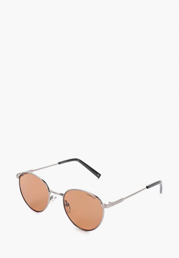 мужские солнцезащитные очки polaroid, серебряные