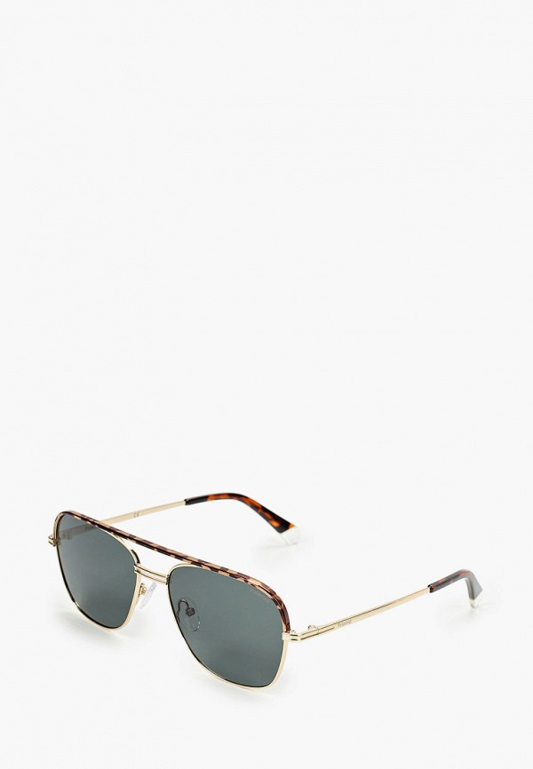 мужские солнцезащитные очки polaroid, золотые