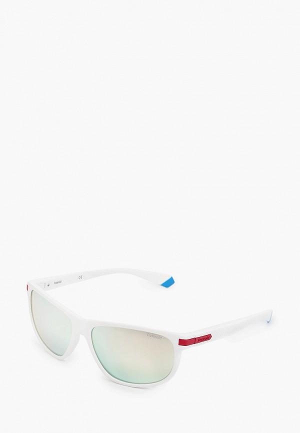 мужские солнцезащитные очки polaroid, белые