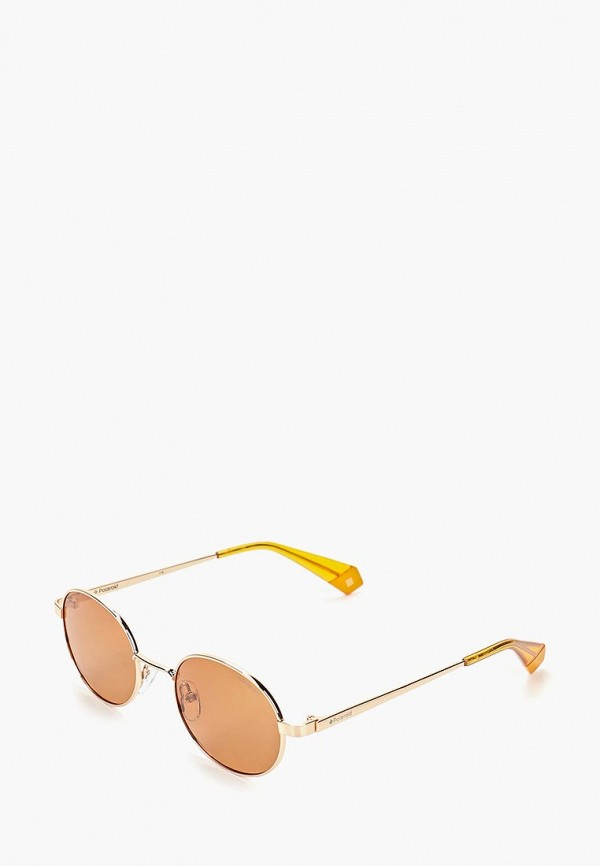 женские солнцезащитные очки polaroid, золотые