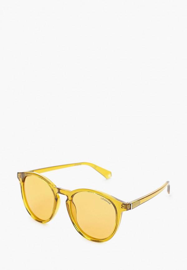 женские солнцезащитные очки polaroid, желтые