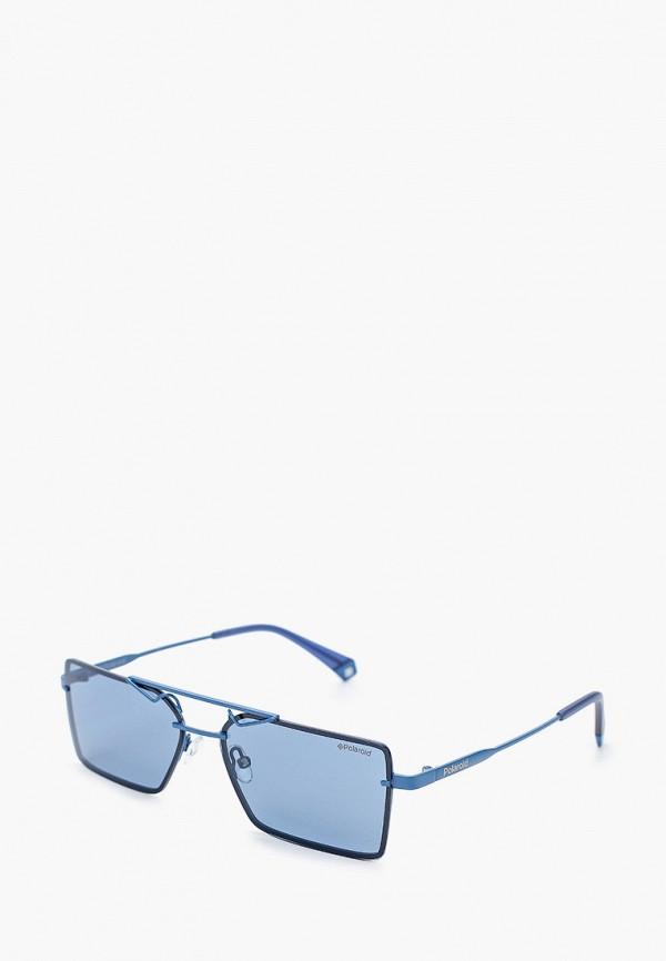 женские солнцезащитные очки polaroid, голубые