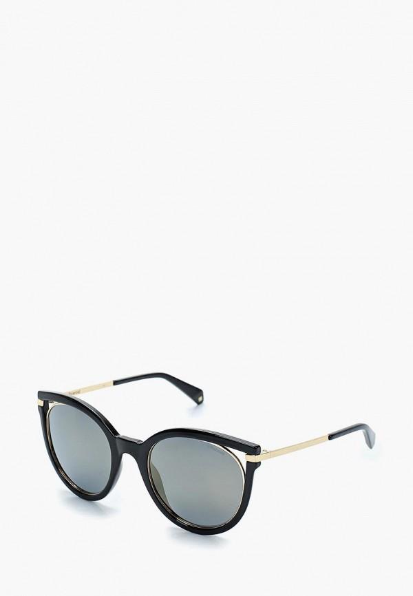женские солнцезащитные очки кошачьи глаза polaroid, черные
