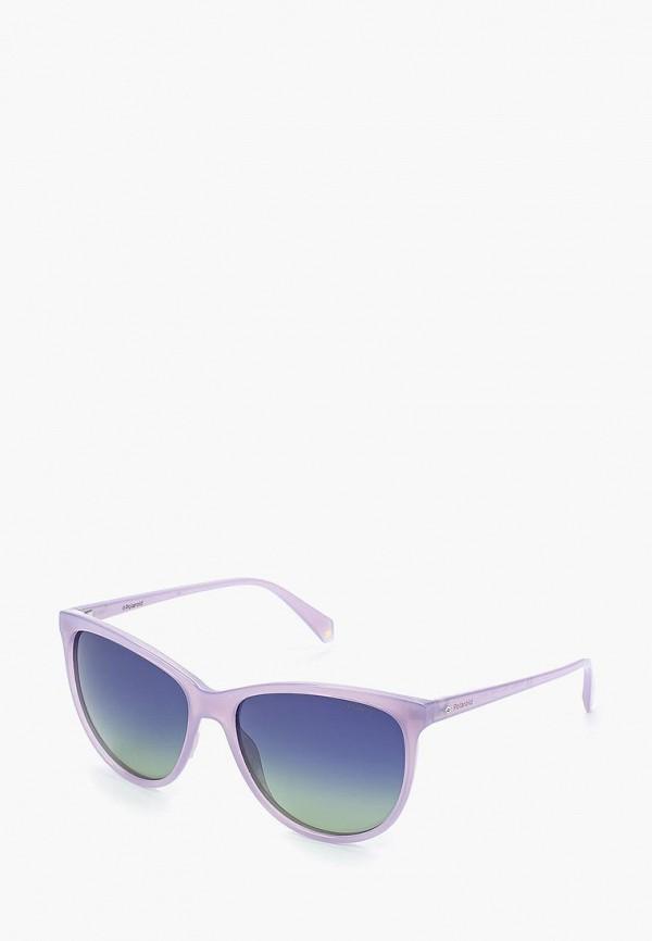 женские солнцезащитные очки кошачьи глаза polaroid, фиолетовые