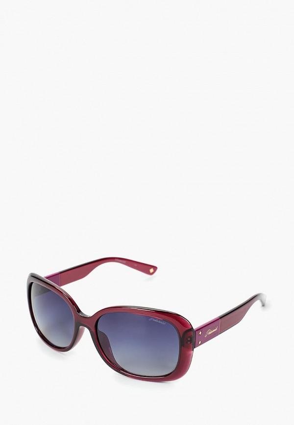 женские солнцезащитные очки polaroid, бордовые