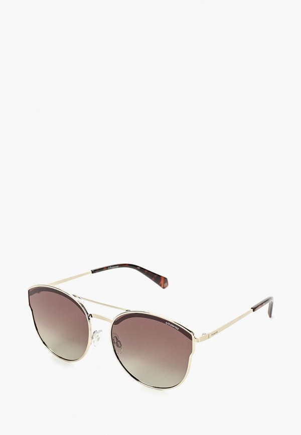 женские авиаторы солнцезащитные очки polaroid, серебряные