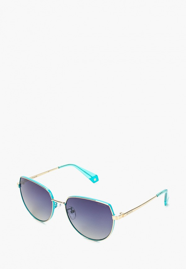 женские солнцезащитные очки polaroid, бирюзовые