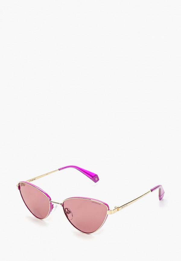 женские солнцезащитные очки polaroid, фиолетовые