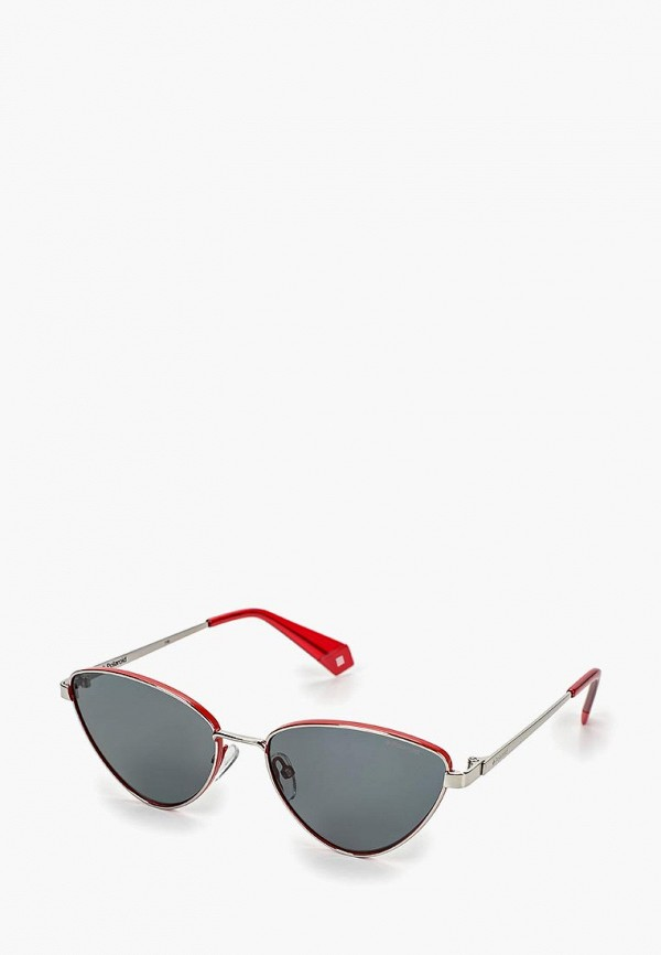 женские солнцезащитные очки polaroid, серебряные