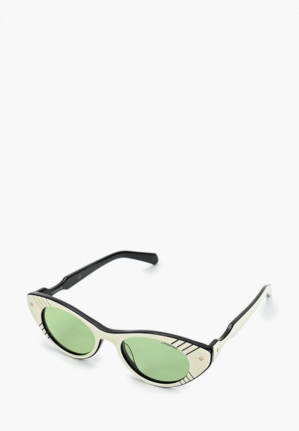 женские солнцезащитные очки polaroid, зеленые