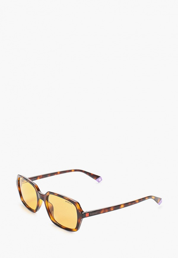 женские солнцезащитные очки polaroid, коричневые