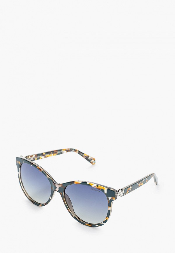женские солнцезащитные очки polaroid, синие