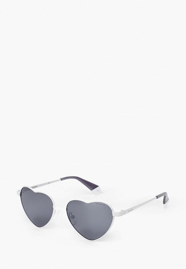 женские солнцезащитные очки polaroid, белые