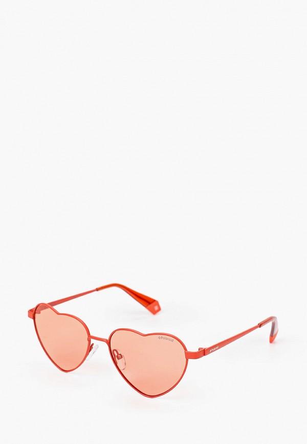 женские солнцезащитные очки polaroid, красные