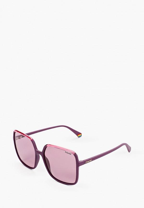 женские солнцезащитные очки polaroid, розовые
