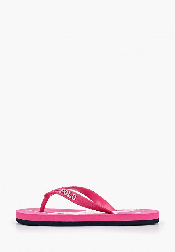 сланцы polo ralph lauren для девочки, розовые