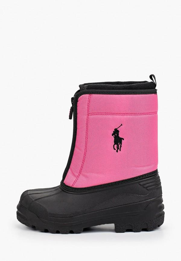 дутики polo ralph lauren для девочки, розовые