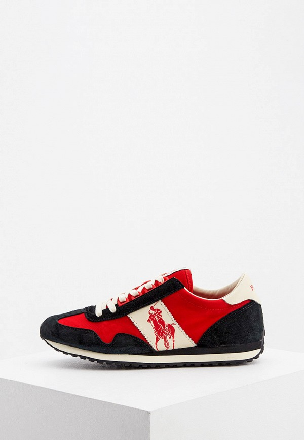 мужские низкие кроссовки polo ralph lauren, красные