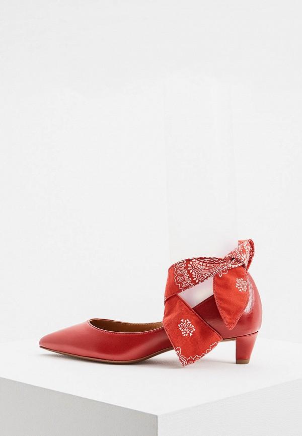 женские туфли polo ralph lauren, красные